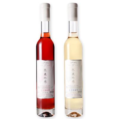 林農園 五一わいん 氷菓の雫 赤 375ml + 白 375ml [極甘口 デザートワイン]【果実酒 ワイン お酒 五一ワイン 日本 信州 桔梗ケ原】