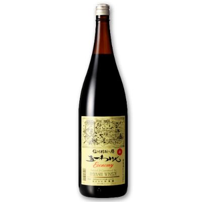 林農園 五一わいん エコノミー 赤 1.8L [赤ワイン ライトボディ]【果実酒 ワイン お酒 五一ワイン Economy 一升瓶 日本 信州 桔梗ケ原】