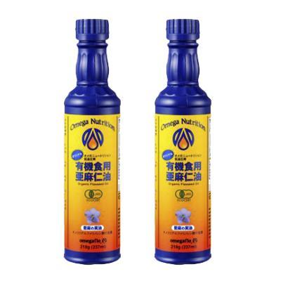 有機亜麻仁油 フラックスシードオイル 237ml × 2本 [オメガニュートリジョン]【有機JAS】《冷蔵手数料 無料》