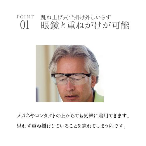 跳ね上げ式 拡大鏡アイルーペ【ブラウン】