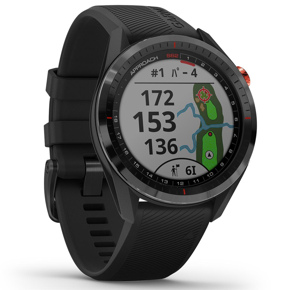 ガーミン GARMIN Approach S62 アプローチ S62 GPS ゴルフウォッチ スマートウォッチ ウェアラブル 腕時計 メンズ レディース ブラック 010-02200-20