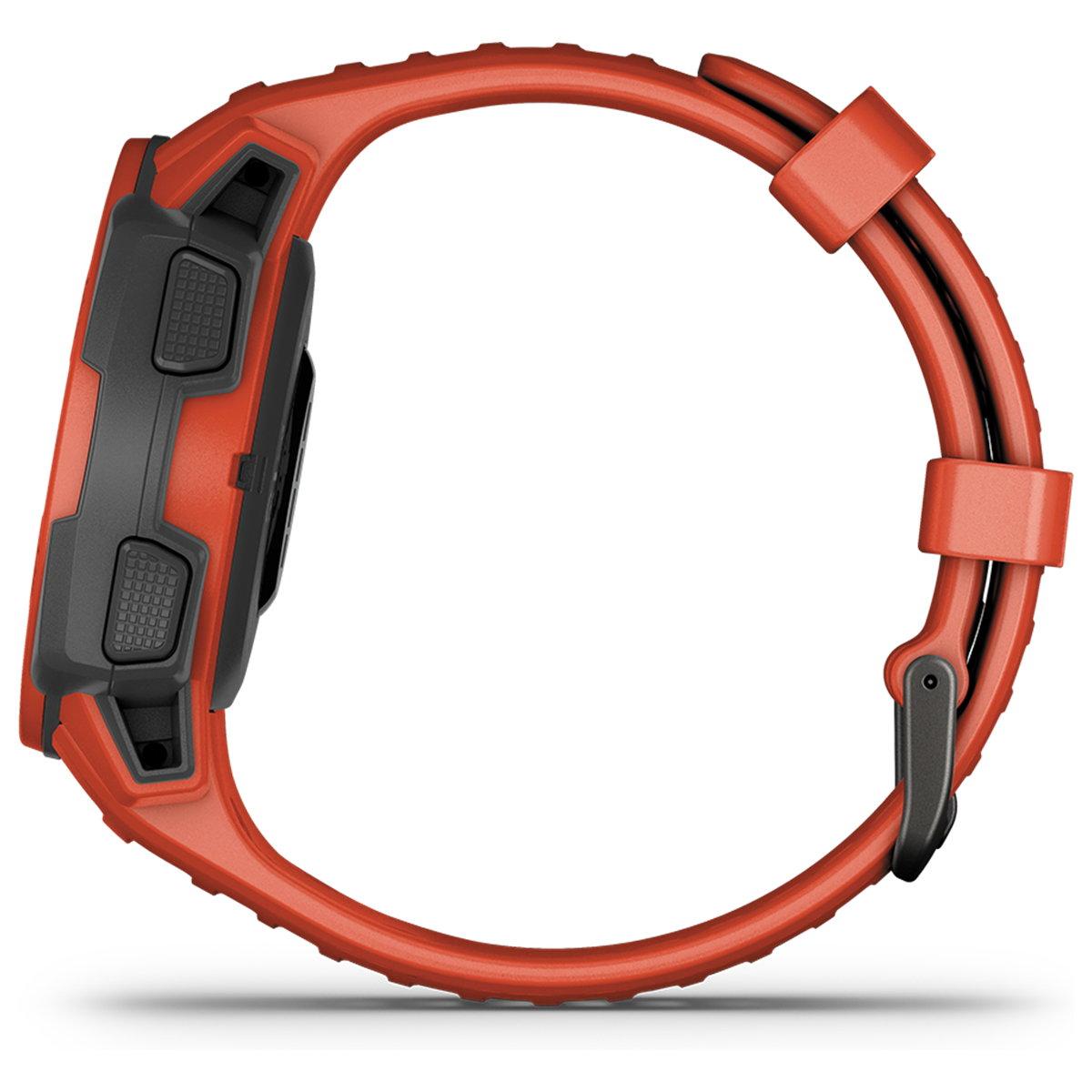 ガーミン GARMIN Instinct Dual Power Flame Red インスティンクト デュアルパワー スマートウォッチ ウェアラブル GPS ソーラー 腕時計 010-02293-70