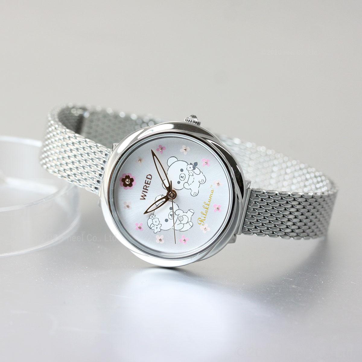 セイコー ワイアード エフ SEIKO WIRED f リラックマ コラボ 第2弾 限定モデル 腕時計 レディース AGEK746