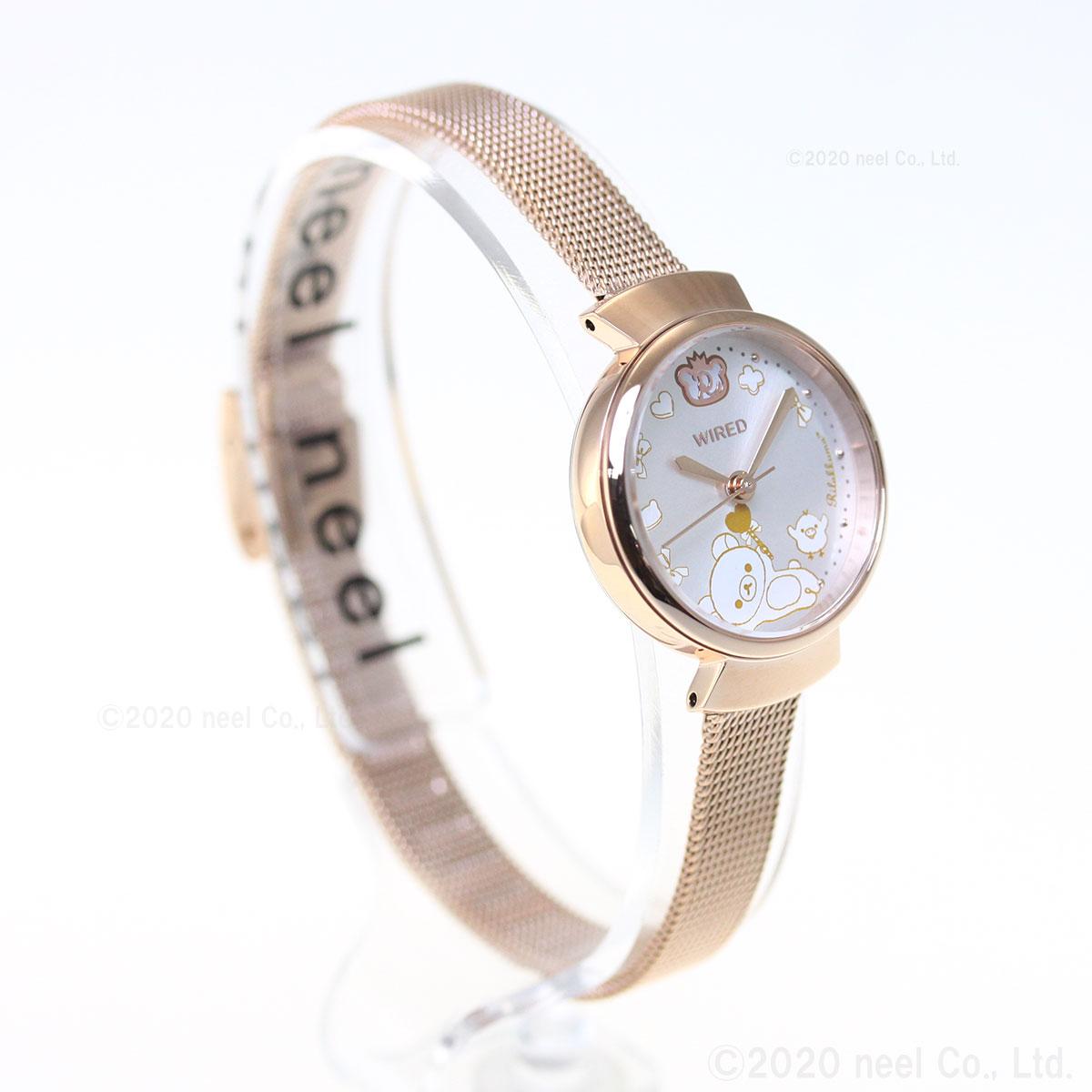 セイコー ワイアード エフ SEIKO WIRED f リラックマ コラボ 第2弾 限定モデル 腕時計 レディース AGEK747