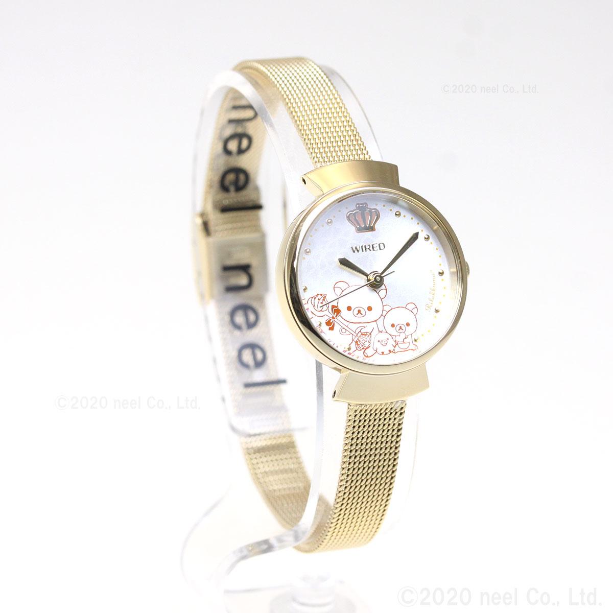 セイコー ワイアード エフ SEIKO WIRED f リラックマ コラボ 第2弾 限定モデル 腕時計 レディース AGEK748