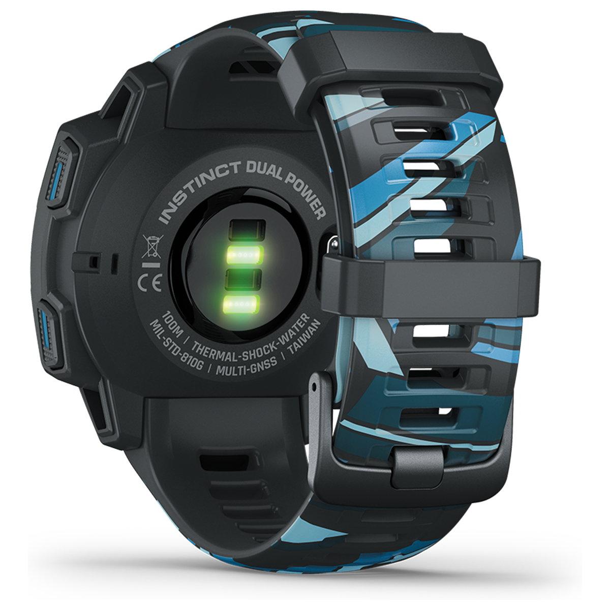 ガーミン GARMIN Instinct Dual Power Graphite Surf Edition Pipeline インスティンクト デュアルパワー スマートウォッチ ウェアラブル GPS ソーラー 腕時計 010-02293-58