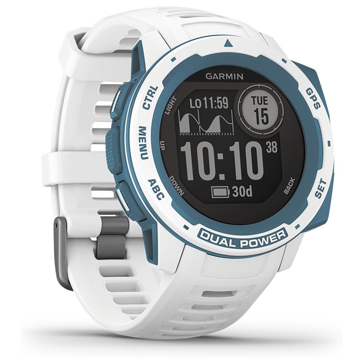 ガーミン GARMIN Instinct Dual Power Graphite Surf Edition Cloudbreak インスティンクト デュアルパワー スマートウォッチ ウェアラブル GPS ソーラー 腕時計 010-02293-61