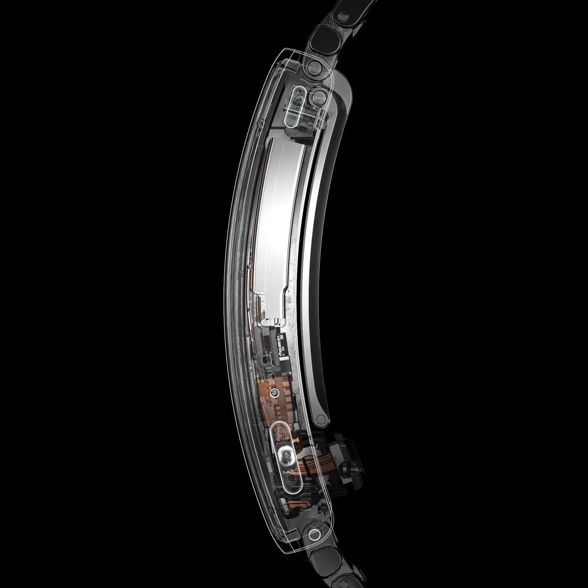 wena 3 metal Black ソニー WNW-B21A/B スマートウォッチ バンド ベルト ウェナ ブラック Suica対応 ラグ幅22mm SONY