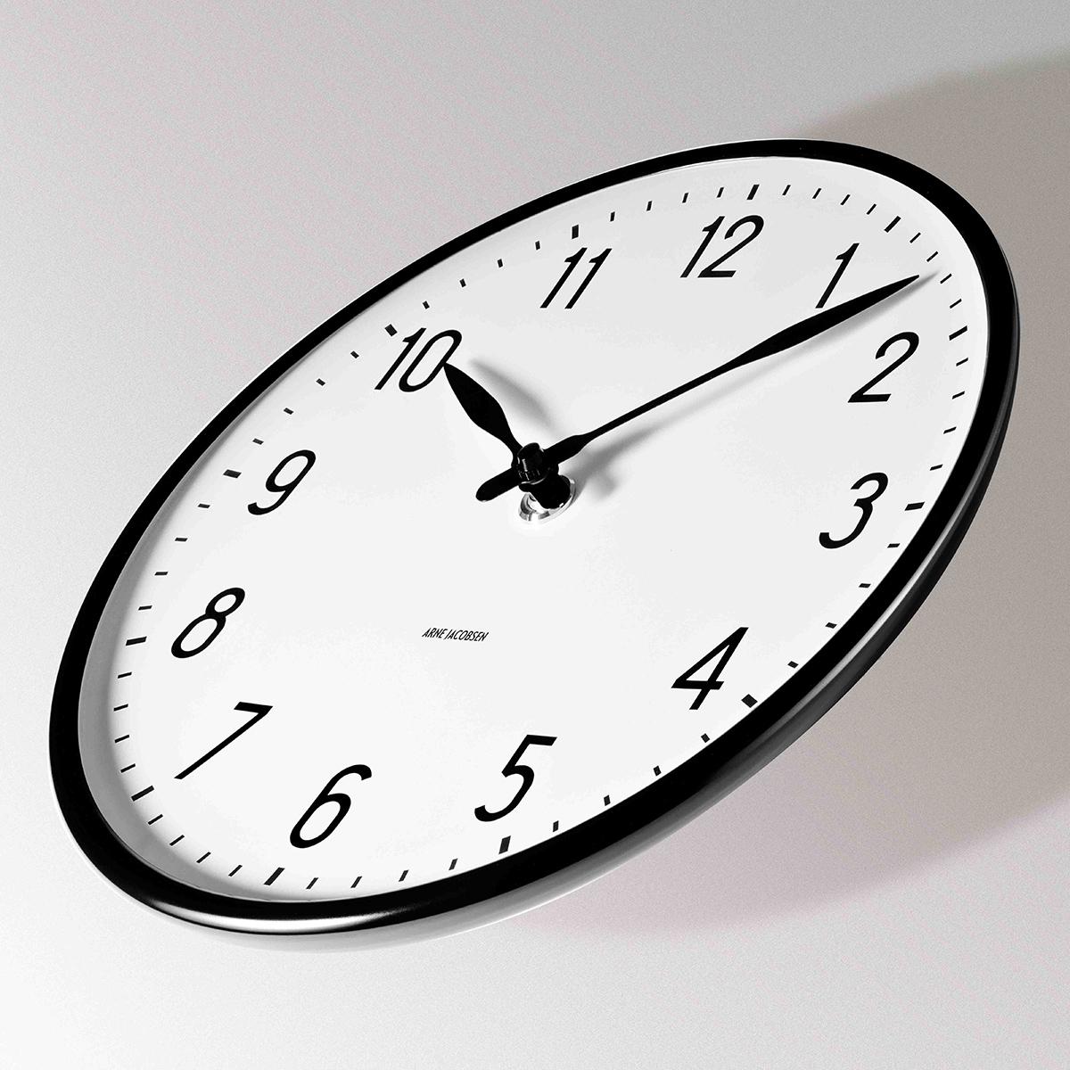 アルネヤコブセン ARNE JACOBSEN 時計 掛け時計 ウォールクロック 北欧 ステーション STATION 29cm 43643