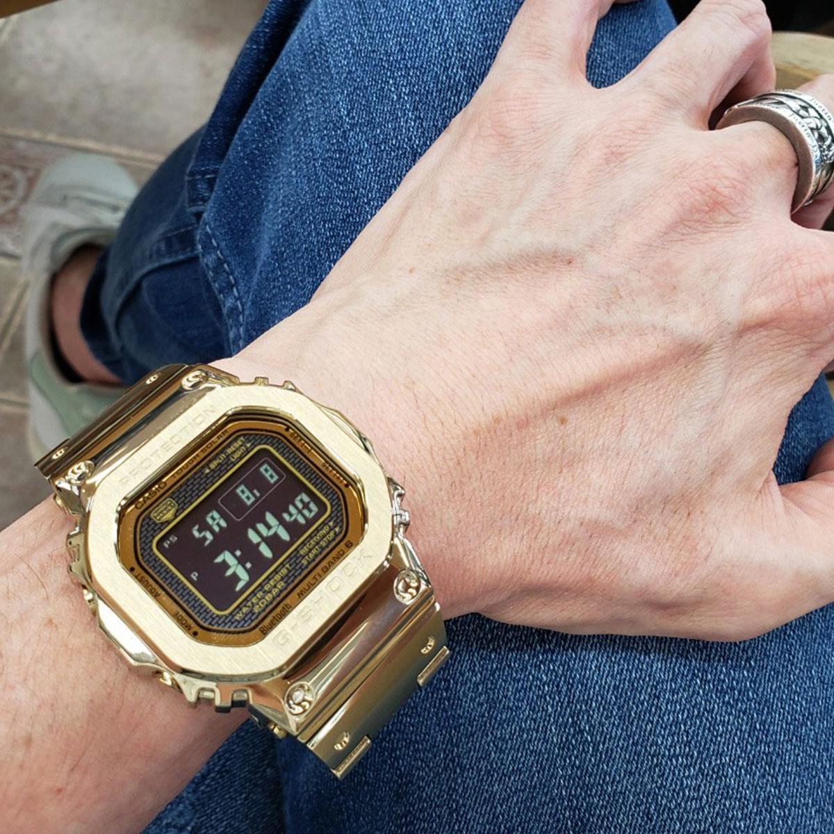 カシオ Gショック CASIO G-SHOCK タフソーラー 電波時計 デジタル 腕時計 メンズ フルメタル ゴールド GMW-B5000GD-9JF
