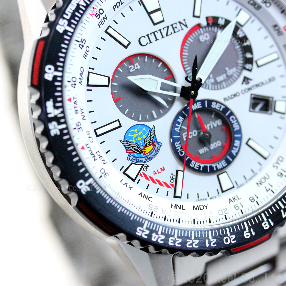 シチズン プロマスター スカイ エコドライブ 電波時計 ブルーインパルス 限定モデル 腕時計 メンズ CITIZEN PROMASTER SKY CB5001-65A