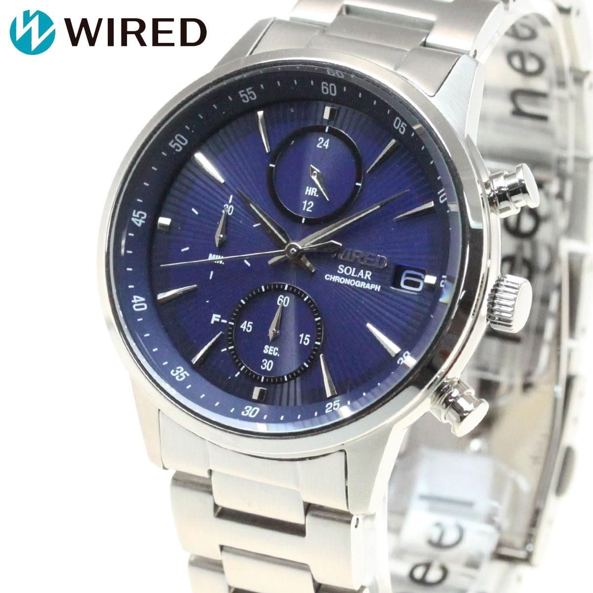 セイコー ワイアード SEIKO WIRED ソーラー クロノグラフ 腕時計 メンズ ニュースタンダードモデル AGAD407