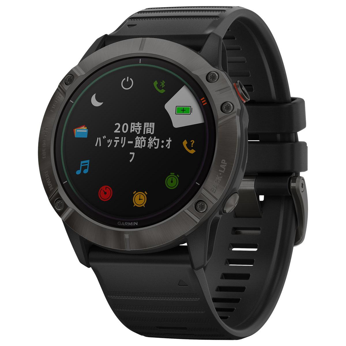 ガーミン GARMIN マルチスポーツGPSウォッチ フェニックス 6X Pro ソーラー充電レンズ搭載 腕時計 010-02157-53