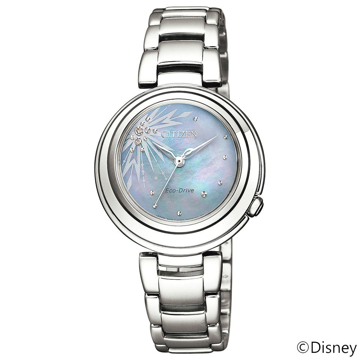 シチズン エル レディース エコドライブ FROZENシリーズ 『アナと雪の女王2』エルサ 腕時計 Frozen II ELSA EM0580-58N