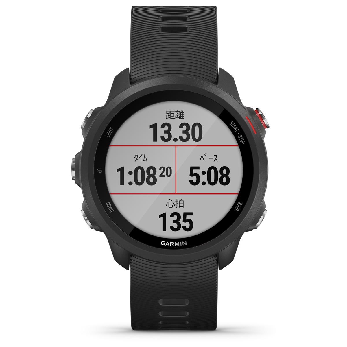 ガーミン GARMIN ForeAthlete 245 Music フォアスリート スマートウォッチ ウェアラブル端末 腕時計 メンズ レディース Black Red 010-02120-70