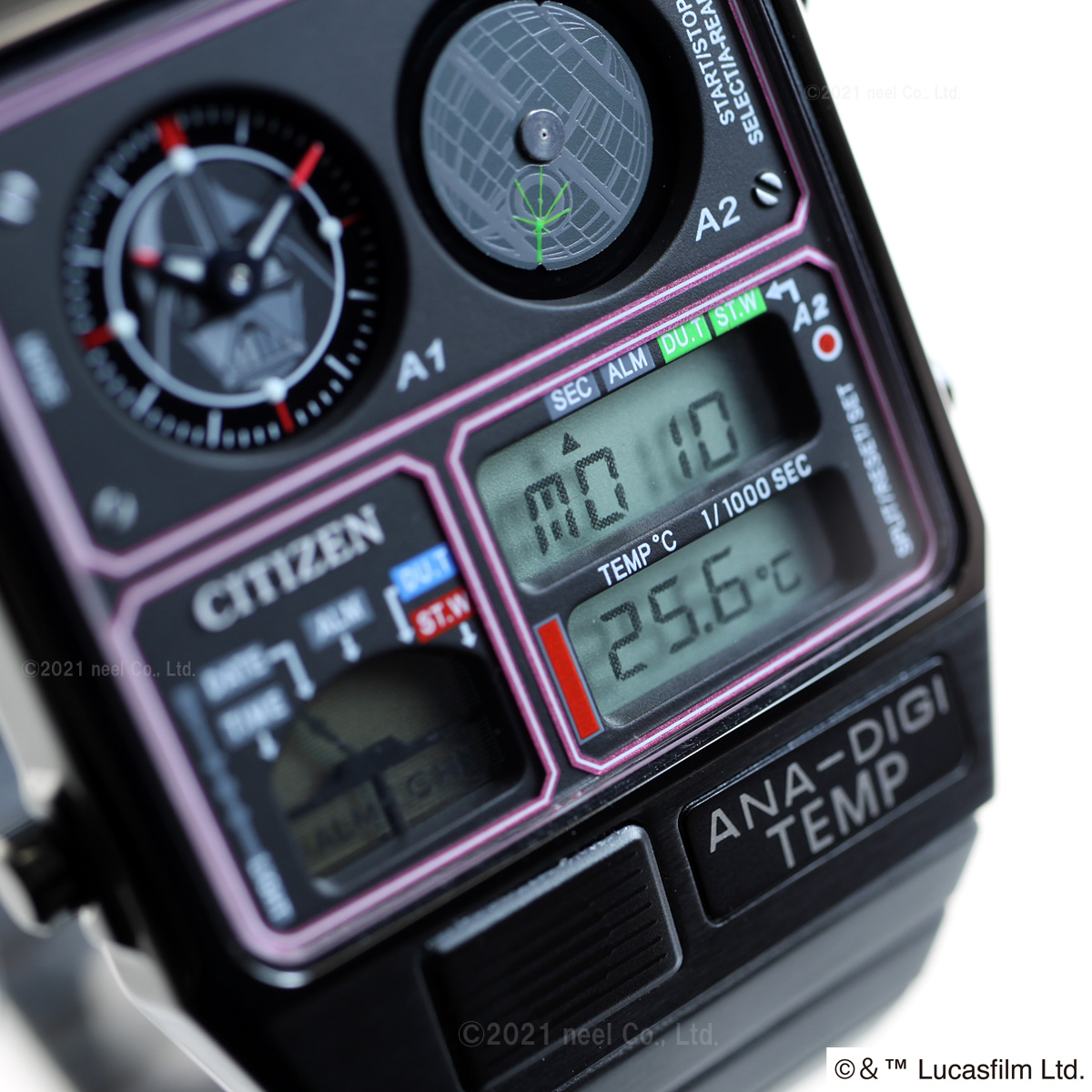 シチズン アナデジテンプ CITIZEN ANA-DIGI TEMP スター・ウォーズ 限定モデル 「ダース・ベイダーモデル」 STAR WARS 腕時計 メンズ レディース JG2115-57E