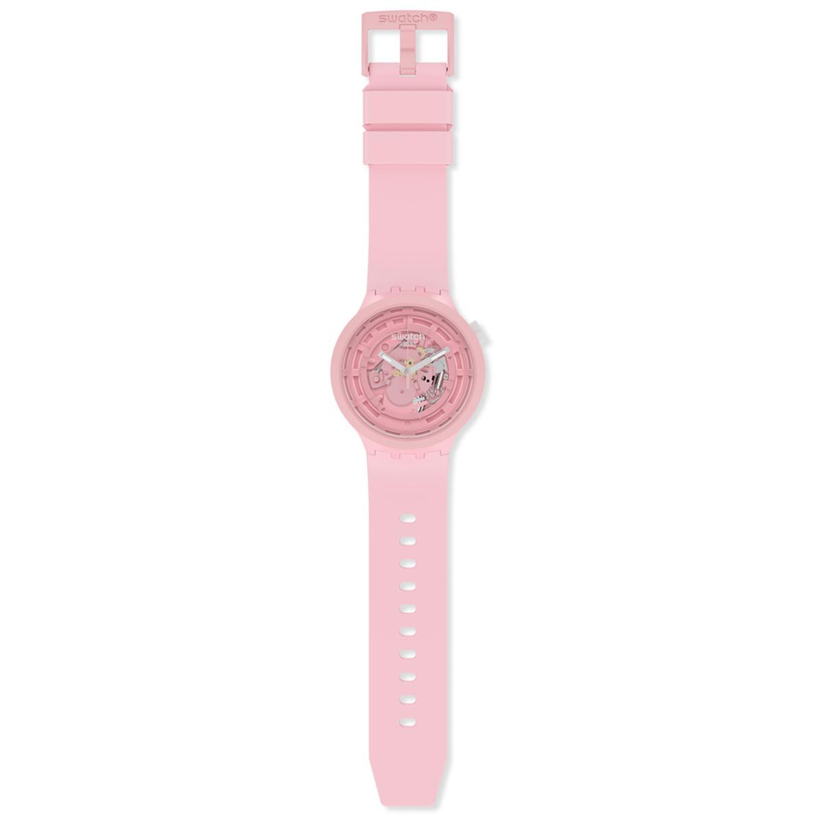 swatch スウォッチ 腕時計 メンズ レディース オリジナルズ ビッグボールド バイオセラミック C-PINK BIG BOLD BIOCERAMIC SB03P100