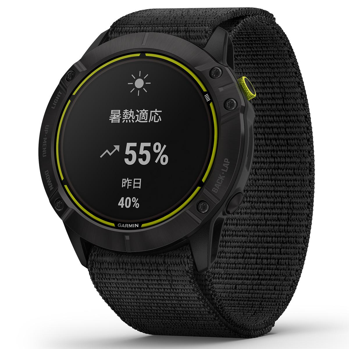 ガーミン GARMIN Enduro DLC Titanium エンデューロ DLC チタニウム GPS ランニングウォッチ トレイルラン スマートウォッチ ブラック 腕時計 010-02408-31