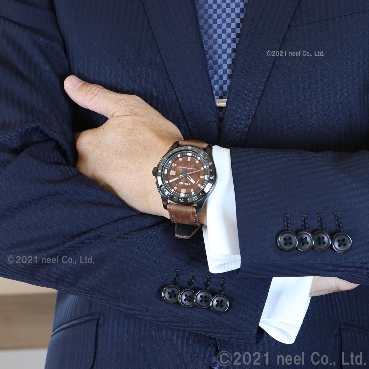 エプソン トゥルーム EPSON TRUME 腕時計 メンズ SWING GENERATOR L Collection Break Line TR-ME2005X