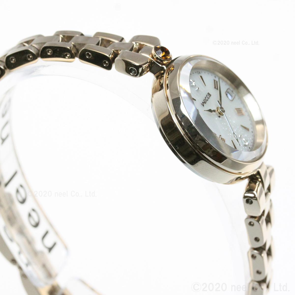 シチズン ウィッカ CITIZEN wicca ソーラーテック 電波時計 ティアラスターコレクション 「天使のはしご」 冬限定モデル 腕時計 レディース KS1-627-91