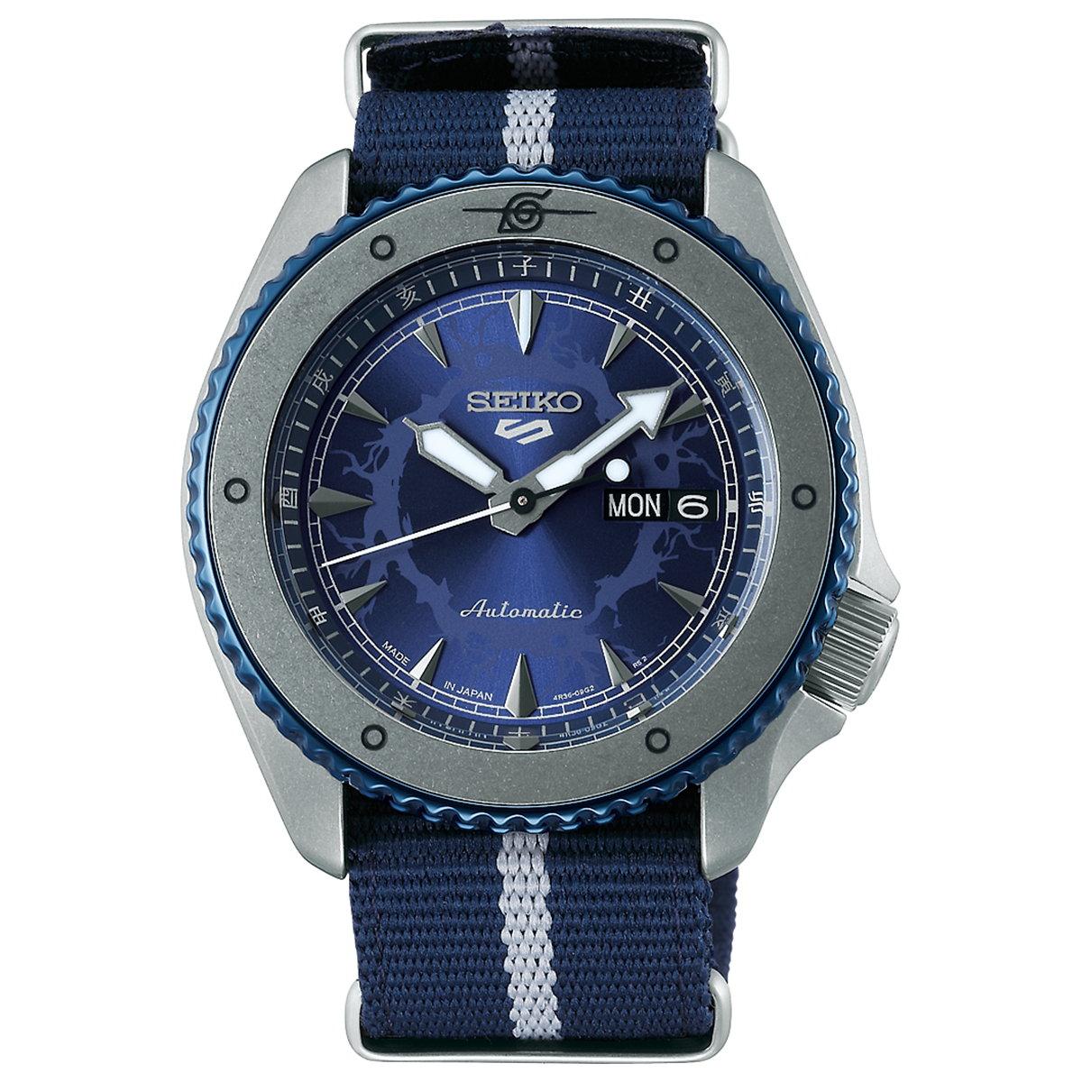 セイコー5 スポーツ SEIKO 5 SPORTS ナルト & ボルト NARUTO & BORUTO コラボ 限定モデル 「うちはサスケ」 自動巻き メカニカル 流通限定モデル 腕時計 メンズ SBSA091