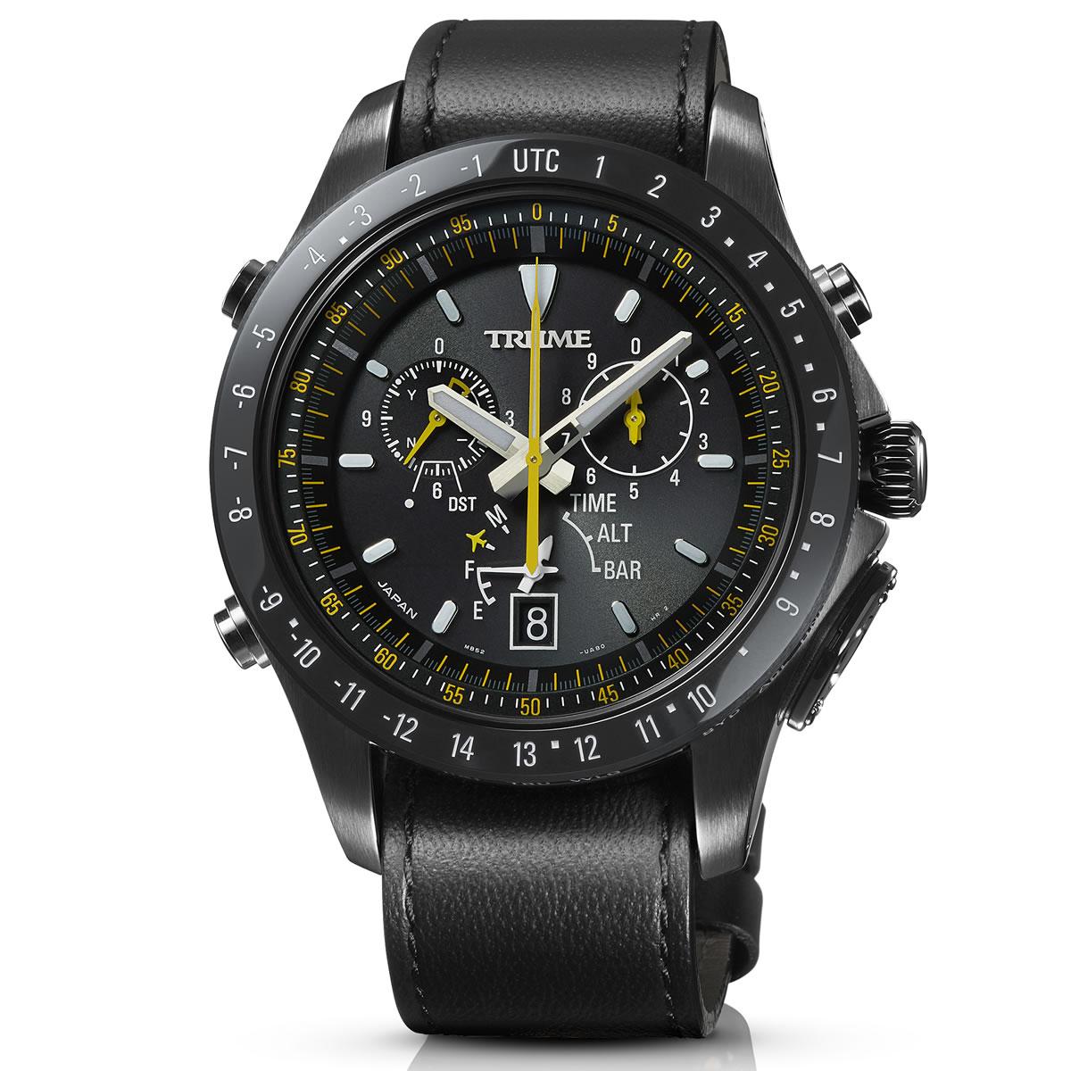エプソン トゥルーム EPSON TRUME ライトチャージ GPS衛星電波時計 腕時計 メンズ S Collection Airline Pilot TR-MB5008X