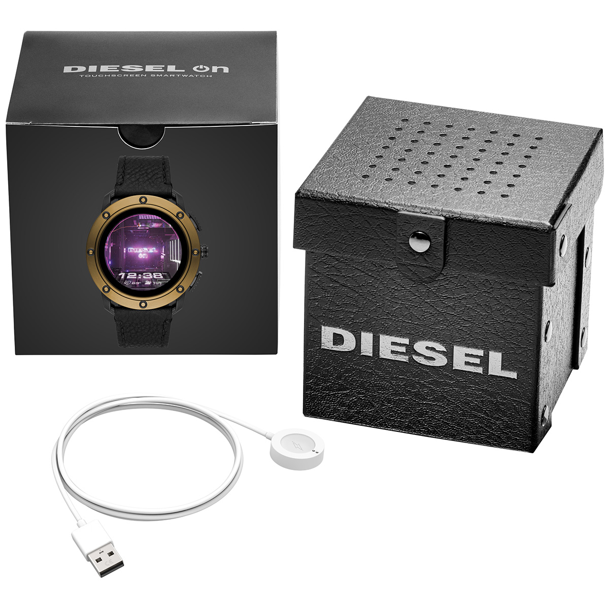 ディーゼル DIESEL ON スマートウォッチ ウェアラブル 腕時計 メンズ アキシャル AXIAL DZT2016