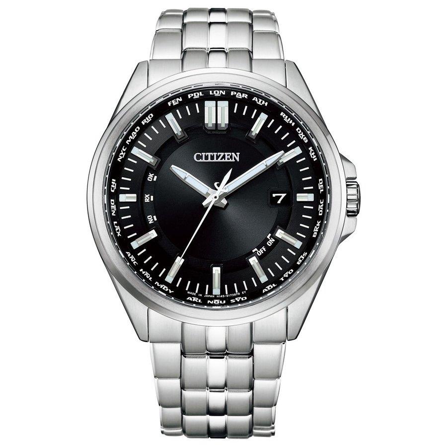 シチズンコレクション CITIZEN COLLECTION wena 3 搭載モデル スマートウオッチ エコドライブ 電波時計 腕時計 メンズ ダイレクトフライト CB0017-71E