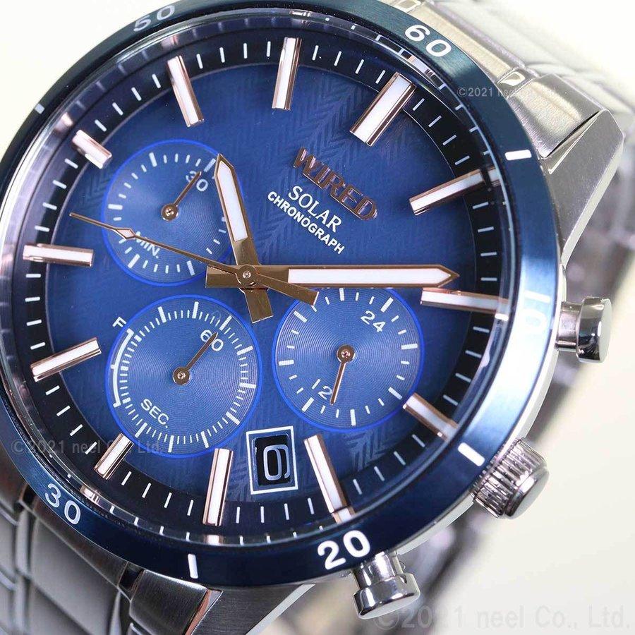 セイコー ワイアード SEIKO WIRED ソーラー 腕時計 メンズ ニュースタンダード クロノグラフ AGAD413