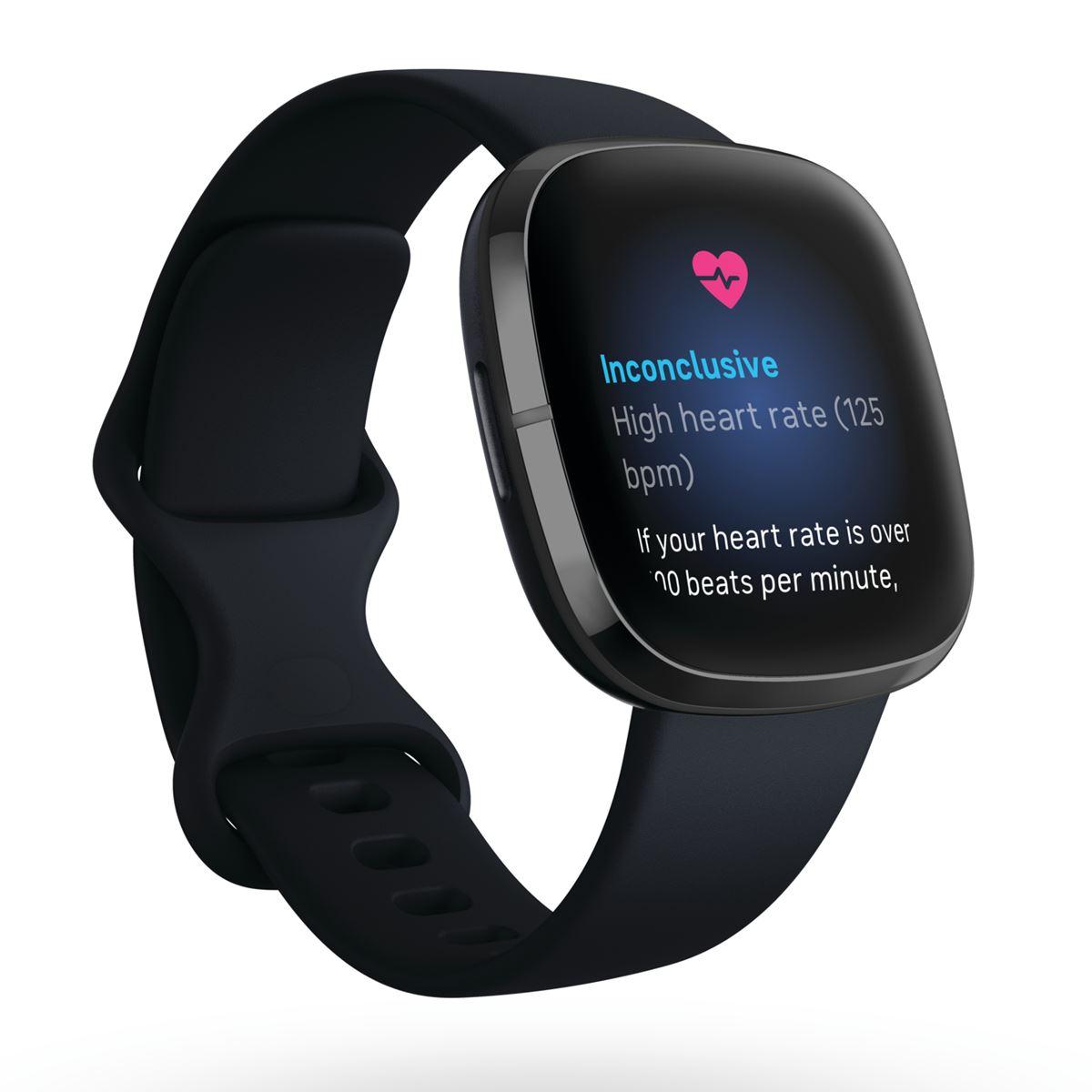 fitbit フィットビット Sense センス フィットネス スマートウォッチ ウェアラブル端末 腕時計 カーボン/グラファイト ステンレススチール FB512BKBK-FRCJK