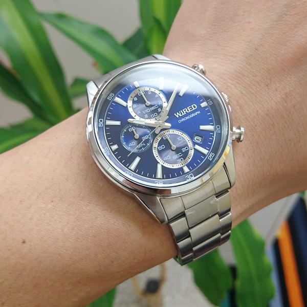 セイコー ワイアード SEIKO WIRED 腕時計 メンズ クロノグラフ ニュースタンダードモデル AGAT423