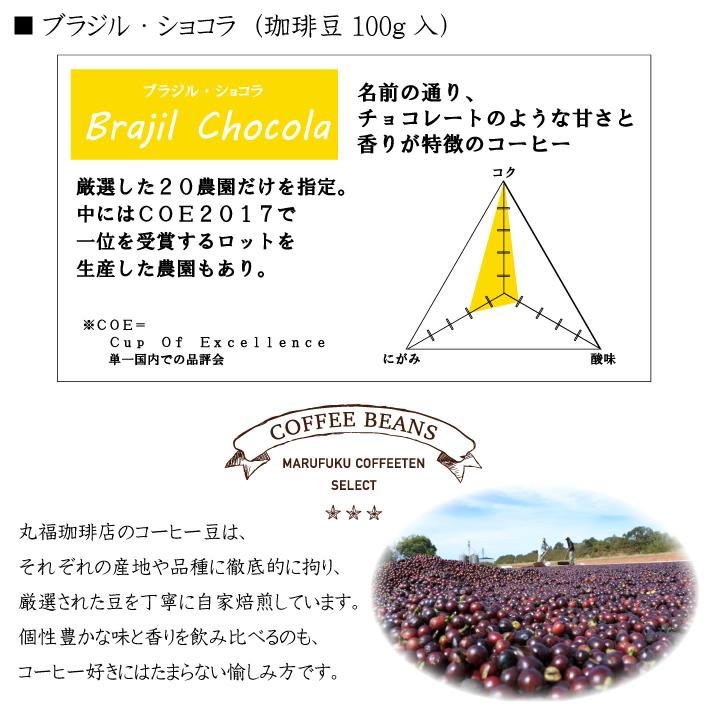 丸福セレクト珈琲豆 ブラジル・ショコラ(100g)