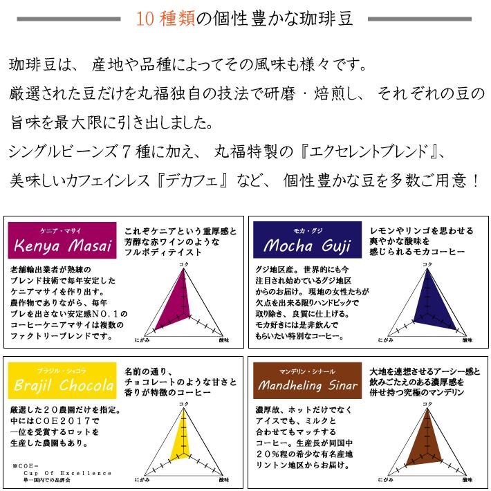 丸福セレクト珈琲豆 グアテマラ・ブルーレイク(100g)