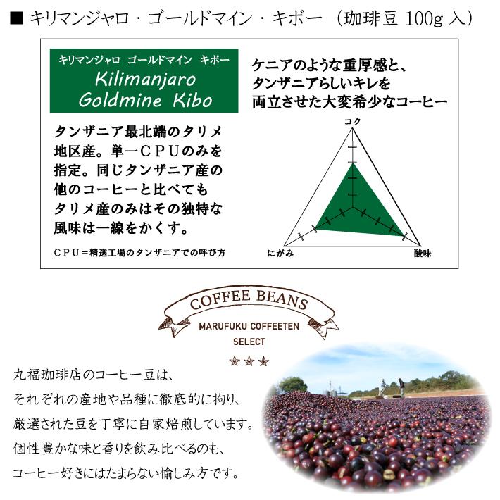 丸福セレクト珈琲豆 キリマンジャロ・カンジラルジ・キボー(100g)