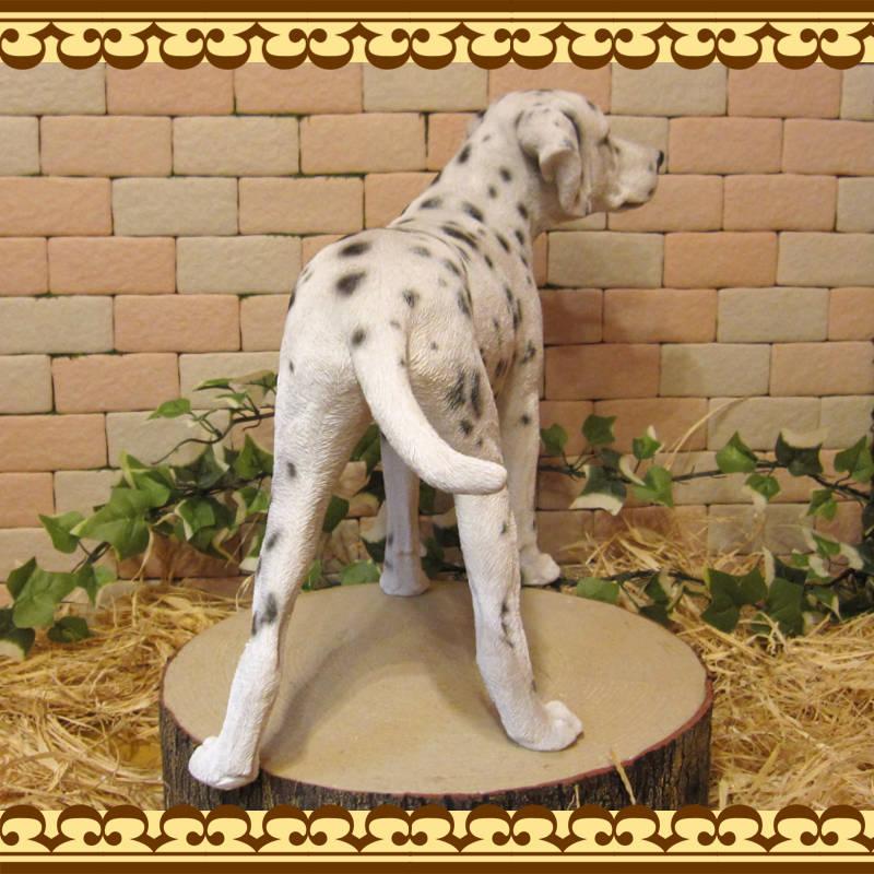 犬の置物 ダルメシアン スタンド ラージサイズ 大きくてリアルな犬の置物 いぬのフィギア ドッグオブジェ いぬ オーナメント レジン 陶器