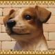 ◇お部屋のインテリアにお庭のオーナメントとしても♪ リアルな犬の置物 ジャックラッセルテリア 子犬 お座りタイプ  子犬のフィギア