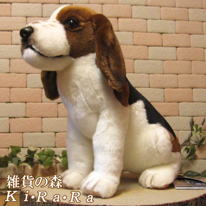 リアルな犬のぬいぐるみ ビーグル犬 ドッグ いぬ イヌ インテリア オブジェ 置物 もふもふ