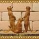 リアルな 動物の置物 ミーアキャット 3点セット ドール フィギュア ガーデニング ミニチュア インテリア