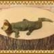 リアルな ワニの置物 ナイルワニ 鰐 爬虫類 ドール フィギュア ガーデニング わに ミニチュア インテリア