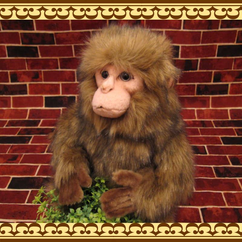 大きくリアル さるのぬいぐるみ ニホンザル 猿 オブジェ インテリア 置物 もふもふ
