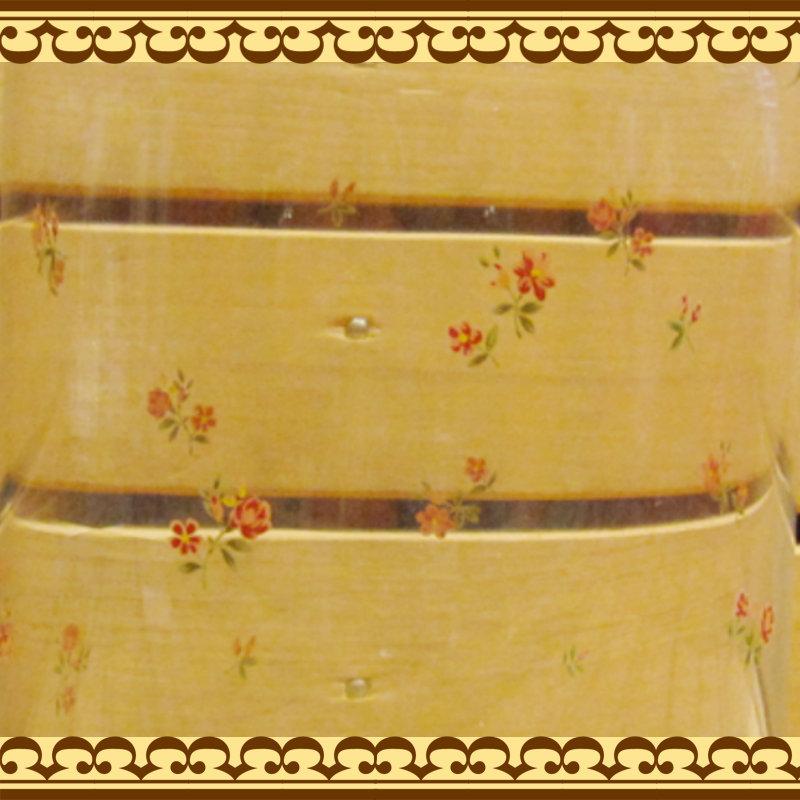 キッチン周りの見せる食器・ディスプレイに 様々な食材の収納に 木蓋のキャニスター 小花