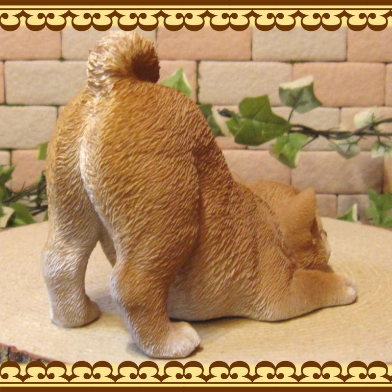 犬の置物 柴犬 リアルな仔いぬの置物 のびのび 柴 Bタイプ ガーデン 装飾 オブジェ オーナメント ベランダアート 日本犬 しばいぬ イヌオブジェ フィギュア
