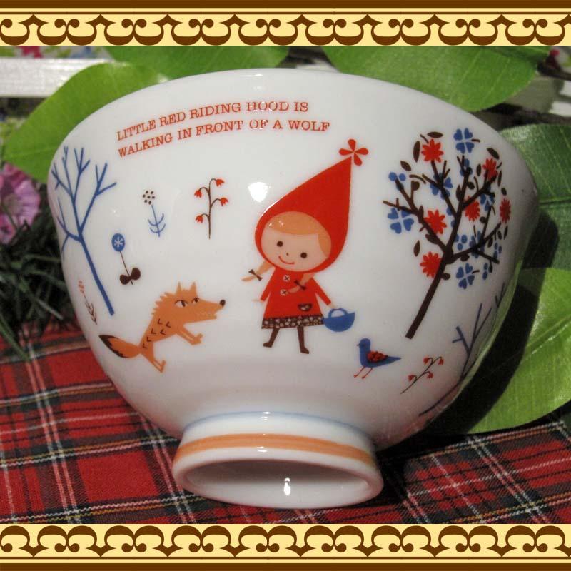 毎日の食事がたのしくなりそうな♪ 赤ずきんちゃんの茶碗