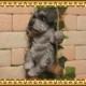 リアルな犬の置物 ブランコドッグ Bタイプ シュナウザー いぬのフィギア イヌ ガーデン インテリア オーナメント◇お部屋のインテリアにお庭のオーナメントとしても♪