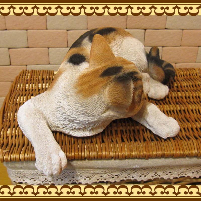大きくてリアルなネコの置物 キャット 伏せ Aタイプ ミケ ねこのフィギュア 三毛猫オブジェ お部屋のインテリアにお庭のオーナメントとしても