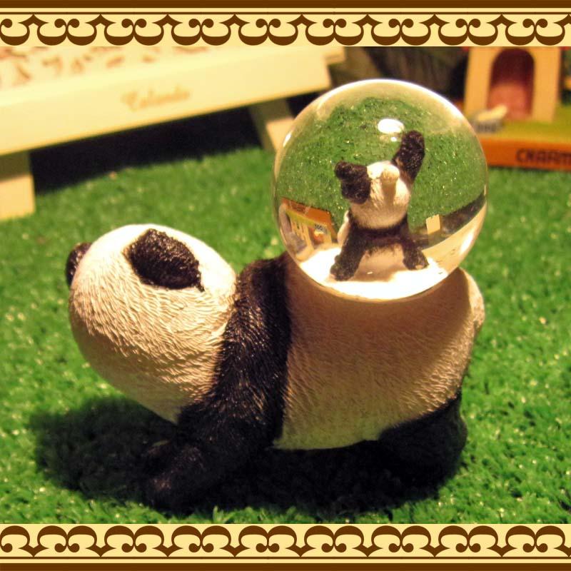 アニマルスノードーム パンダの親子