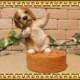 リアルな犬の置物 ビーグル スマホスタンド ドッグ Bタイプ 卓上 スマートフォン スマホホルダー お部屋のインテリアにお庭のオーナメントとしても♪  子いぬのフィギア ガーデニング オブジェ 玄関先