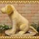 ラブラドールレトリバーの置物 リアルな犬のぬいぐるみ ドッグ オブジェ インテリア
