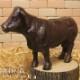 牛の置物 アイアン 鉄製 うしのフィギア ガーデン 丑年 干支 ◇お部屋のインテリアにお庭のオーナメントとしても♪