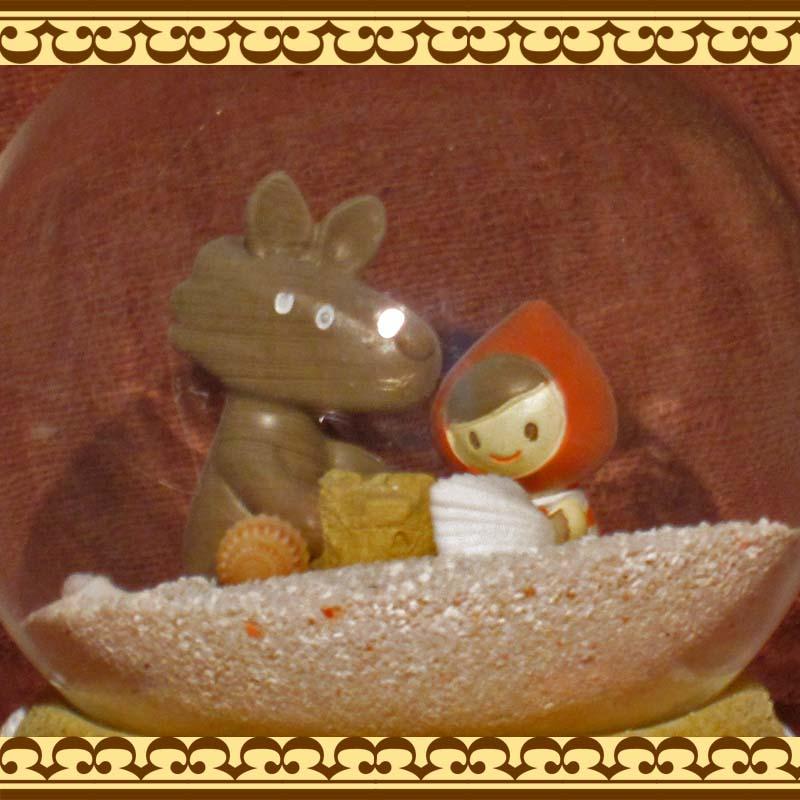 赤ずきんちゃんとオオカミが仲良く砂遊び♪ 砂のスノードーム サマードーム